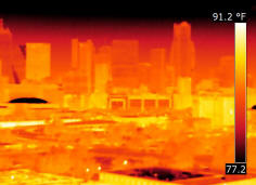 Thermal infrared heat scan of Dallas