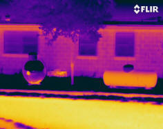 Residential infrared scan