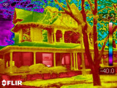 Residential infrared scans in Dallas